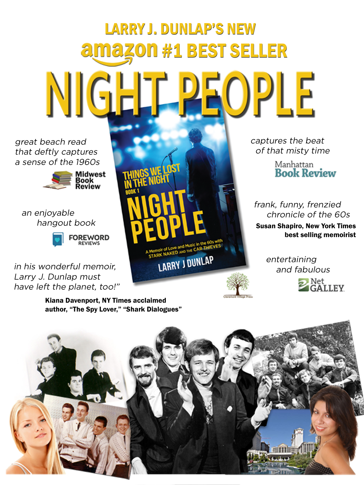 NIGHT PEOPLE Book Signing, Glendora Public Library
